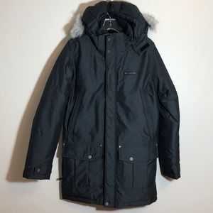 New Columbia Men's Winter Coat Faux Fur Hood Sz S